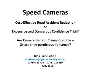 Speed Cameras  Cost-Effective Road Accident Reduction or
