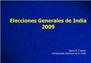 Elecciones Generales de India 2009