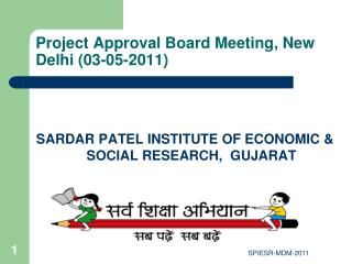 Project Approval Board Meeting, New Delhi (03-05-2011)