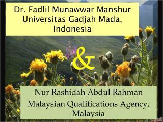 Dr. Fadlil Munawwar Manshur Universitas Gadjah Mada, Indonesia
