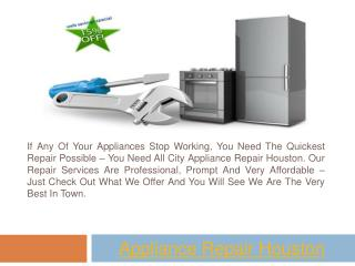 Refrigerator Repair Houston TX