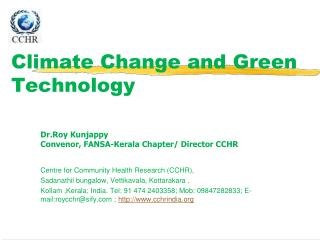 Climate Change and Green Technology