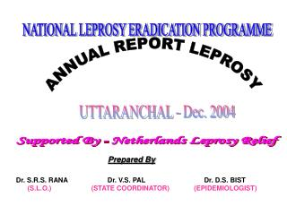 ANNUAL REPORT LEPROSY