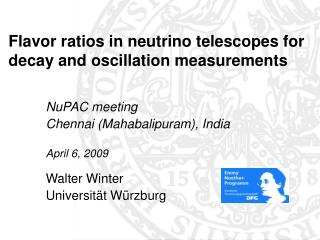 Flavor ratios in neutrino telescopes for decay and oscillation measurements