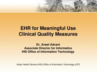 Clinical Quality Measures for EPs