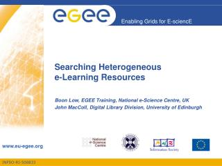 Searching Heterogeneous  e-Learning Resources