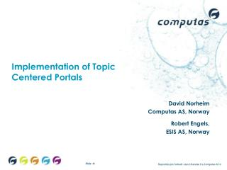 Implementation of Topic  Centered Portals