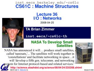 TA Brian Zimmer inst.eecs/~cs61c-th