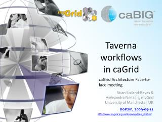 Taverna workflows in caGrid