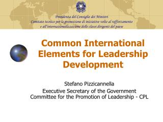 Common International Elements for Leadership Development