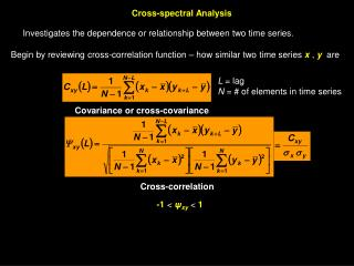 Cross-spectral Analysis