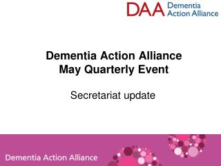 Dementia Action Alliance May Quarterly Event