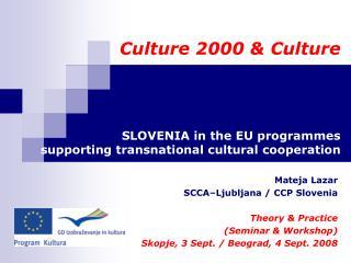 Mateja Lazar SCCA–Ljubljana /  CCP Slovenia Theory & Practice  (Seminar & Workshop)