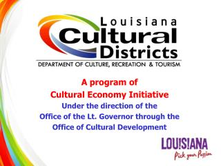 A program of  Cultural Economy Initiative Under the direction of the