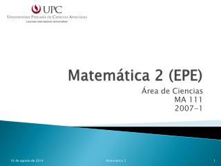 Matemática 2 (EPE)