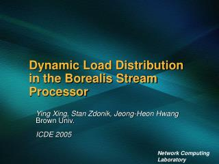 Dynamic Load Distribution in the Borealis Stream Processor