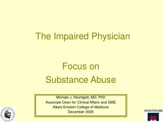 The Impaired Physician