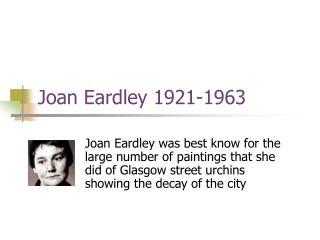 Joan Eardley 1921-1963