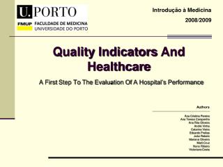 Quality  Indicators  And Healthcare