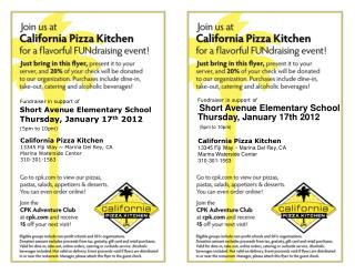 California Pizza Kitchen 13345 Fiji Way ~ Marina Del Rey, CA