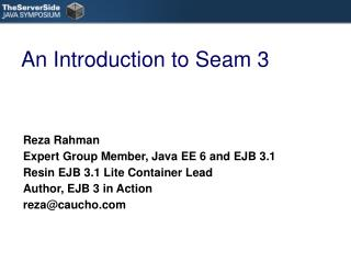 An Introduction to Seam 3
