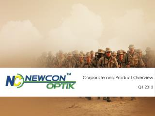 Corporate and Product Overview Q1 2013