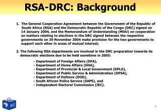 RSA-DRC: Background