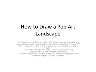 How to Draw a Pop Art Landscape