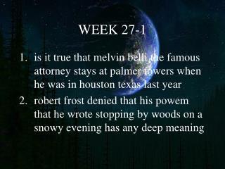 WEEK 27-1