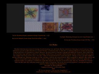 Top left: Workshop delegate's spontaneous design, Corporate man ;-) 1997