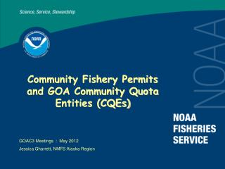 Community Fishery Permits and GOA Community Quota Entities (CQEs)