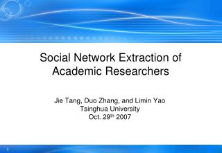 Social Network Extraction of Academic Researchers