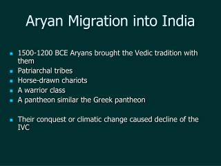 Aryan Migration into India