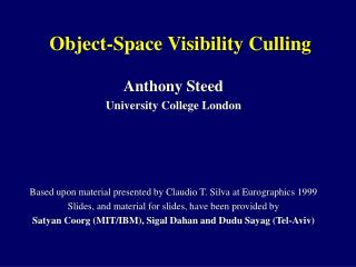 Object-Space Visibility Culling