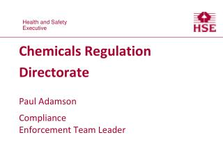 Chemicals Regulation Directorate