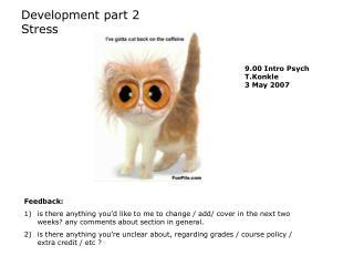 Development part 2 Stress
