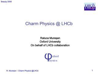 Charm Physics @ LHCb