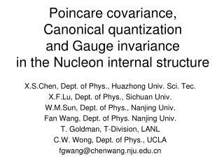 X.S.Chen, Dept. of Phys., Huazhong Univ. Sci. Tec. X.F.Lu, Dept. of Phys., Sichuan Univ.