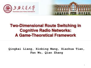 Two-Dimensional Route Switching in Cognitive Radio Networks:  A Game-Theoretical Framework