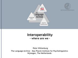 Interoperability - where are we -