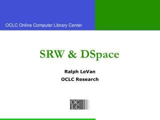 SRW & DSpace