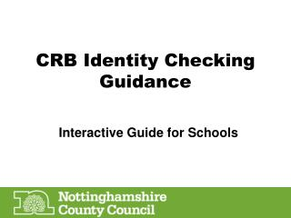 CRB Identity Checking Guidance