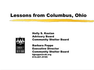 Lessons from Columbus, Ohio