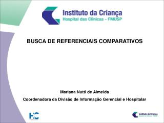 BUSCA DE REFERENCIAIS COMPARATIVOS