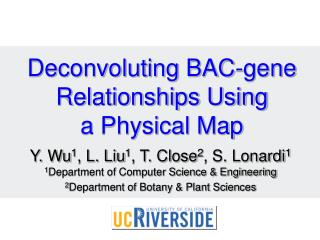 Deconvoluting BAC-gene Relationships Using a Physical Map