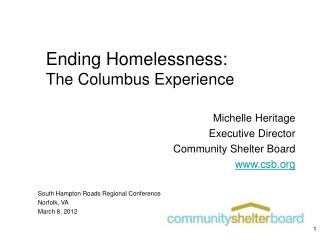 Ending Homelessness: The Columbus Experience