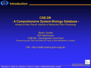 CSB.DB  -  A Comprehensive System-Biology Database -