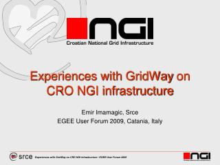 Experiences with  GridWay  on CRO NGI infrastructure