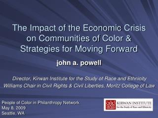 The Impact of the Economic Crisis on Communities of Color  Strategies for Moving Forward