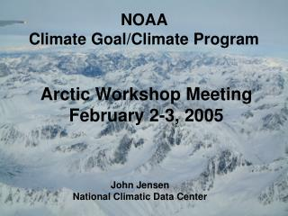 NOAA  Climate Goal/Climate Program